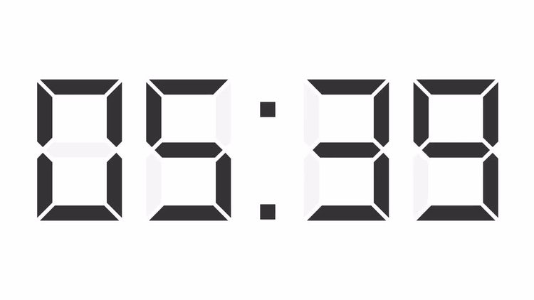 Digital Clock Timer 24 Hours : Motion Graphics
