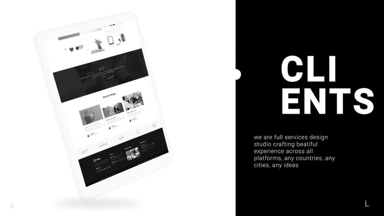 Tablet Web Presentation : After Effects Templates