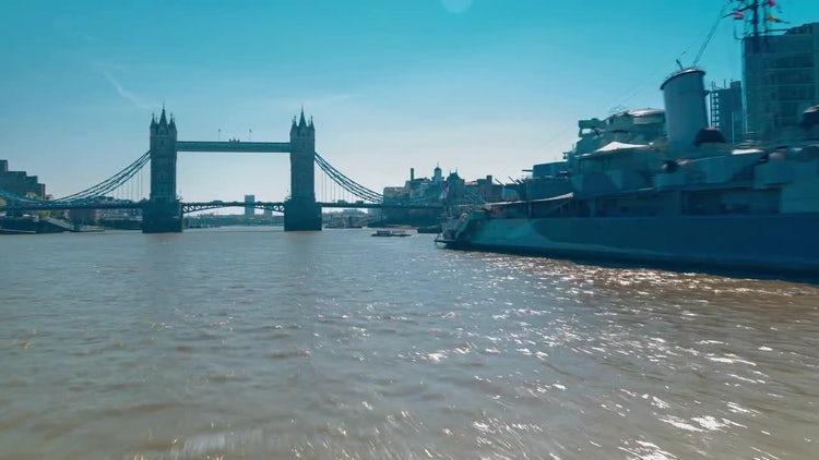 POV Boat Trip The River Thames, London, UK: Stock Video