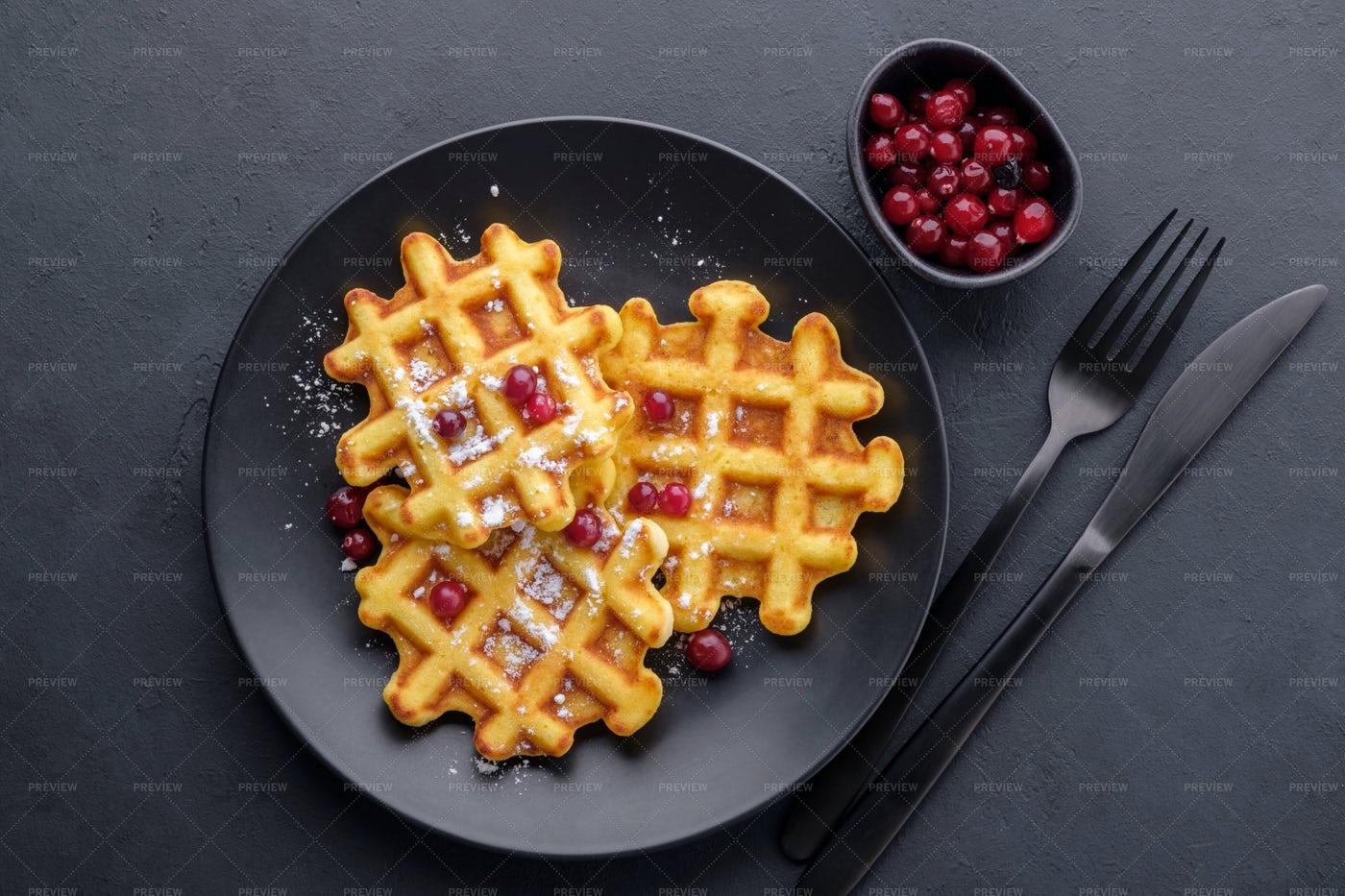 Belgian Waffles: Stock Photos