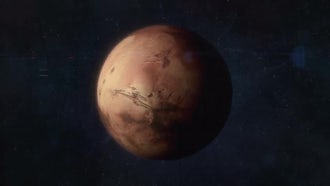 Approaching The Red Planet Mars: Motion Graphics