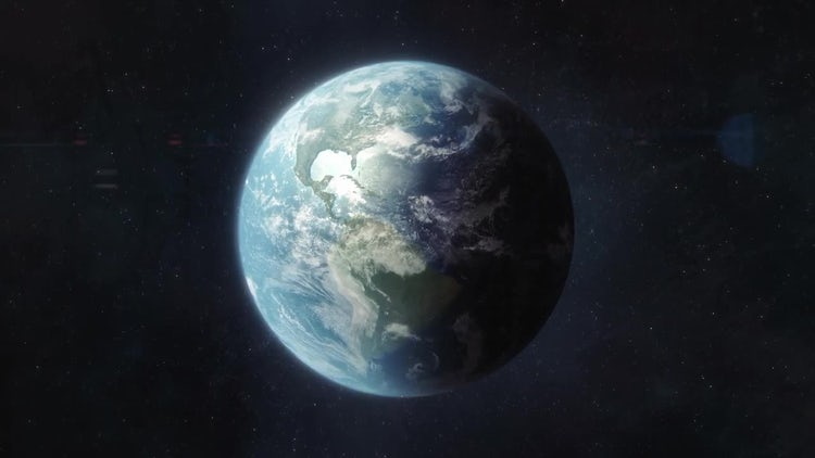 Approaching Planet Earth: Stock Motion Graphics