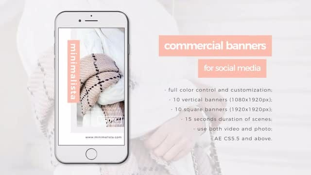 Commercial Social Media Banners: After Effects Templates