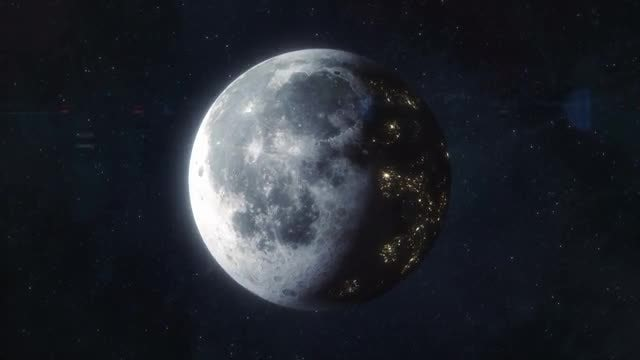 Colonized Moon - Future World: Stock Motion Graphics