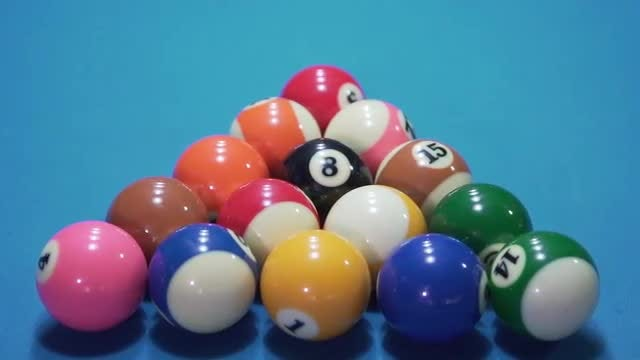 Billiard Balls Slow Motion: Stock Video