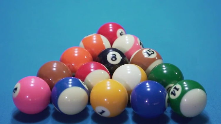 Billiard Balls Slow Motion: Stock Video