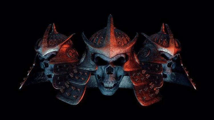 Samurai Helmet VJ Loop: Motion Graphics