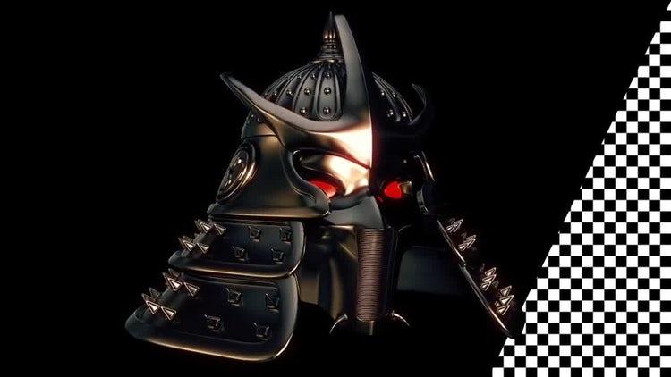 Samurai Helmet VJ Loop: Stock Motion Graphics