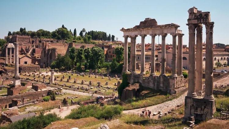 Roman Forum, Rome Italy: Stock Video
