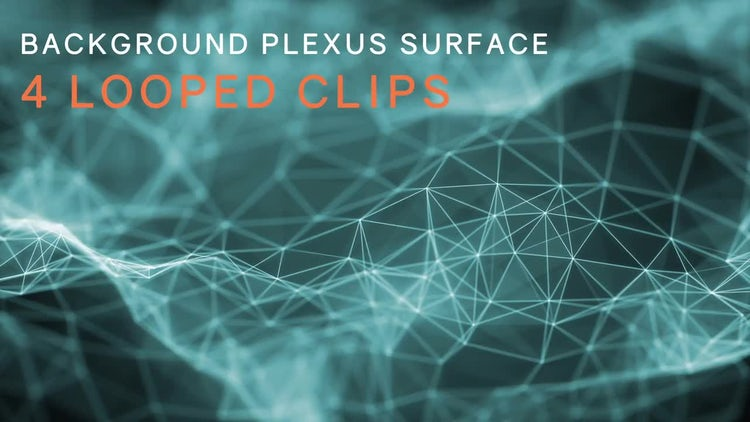 Background Plexus Surface Looped Pack: Stock Motion Graphics
