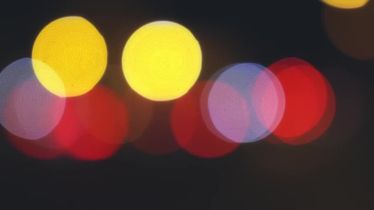 Rome Italy Traffic Lights Bokeh: Stock Video