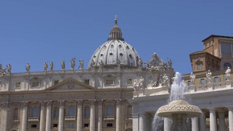 St Peter's Basilica, Vatican : Stock Video