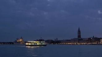 Venice Italy At Dusk: Stock Video