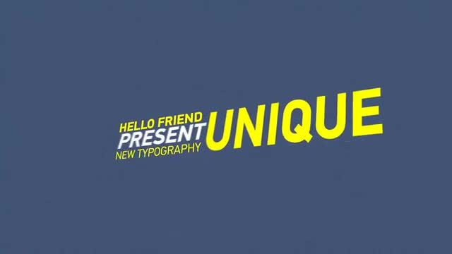 Typography Pack: After Effects Templates