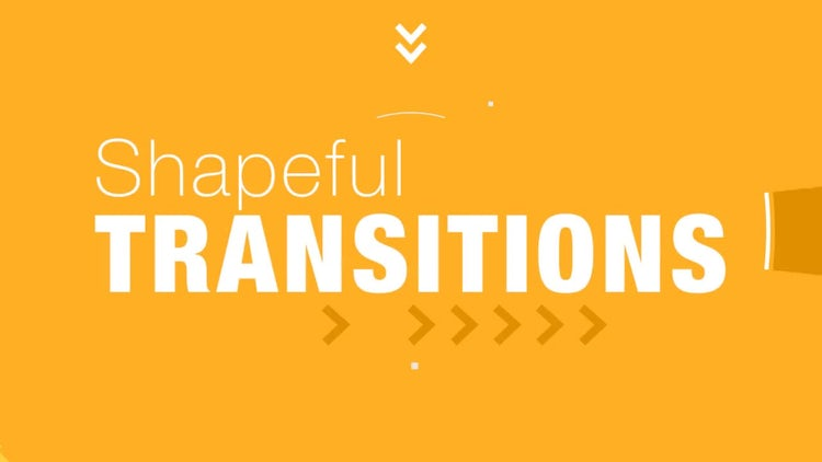 Shapeful Transitions: After Effects Templates