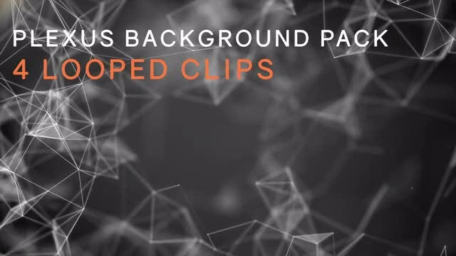 Abstract Plexus Background Looped Pack: Stock Motion Graphics