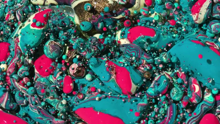 Brightly Colored Marble Bubbles : Stock Video