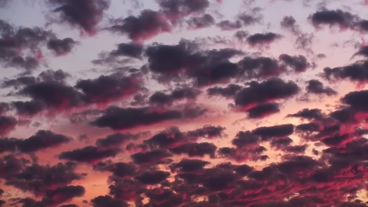 Red Sunset Timelapse Clouds: Stock Video