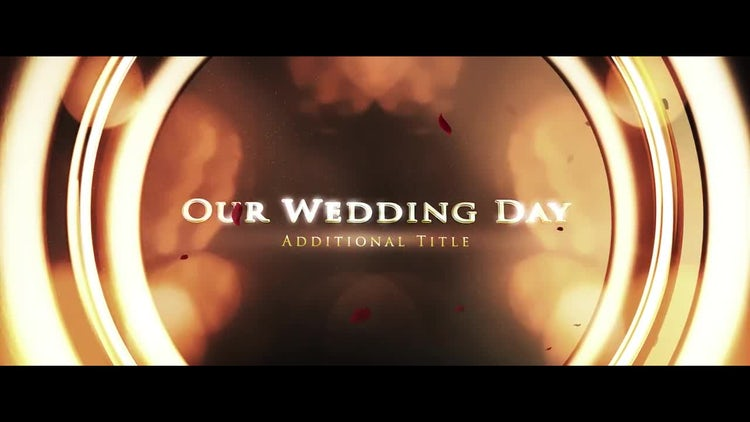 Wedding Rings Opener: After Effects Templates