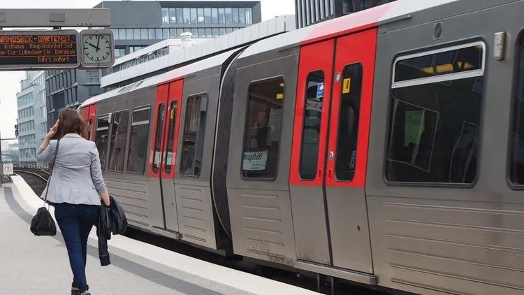 S-Bahn Train In Hamburg: Stock Video