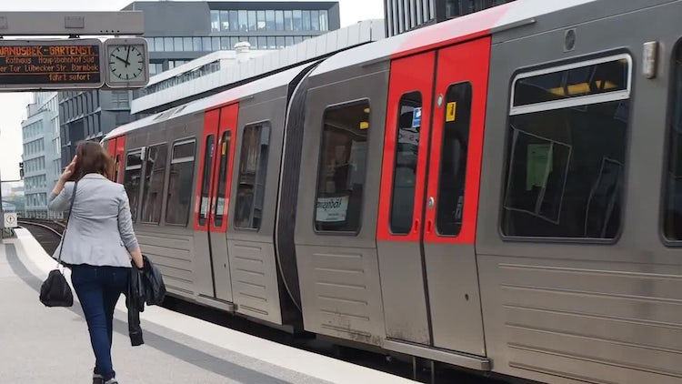 S-Bahn Train In Hamburg: Stock Video