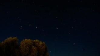 Night Sky Time Lapse: Stock Footage