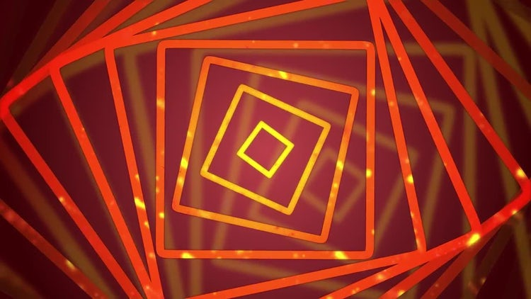 Square VJ Background Loop: Motion Graphics