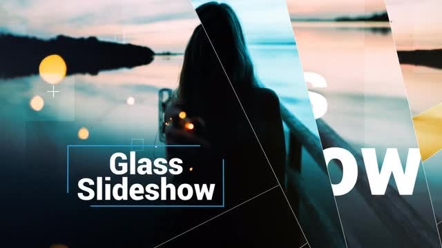 Modern Glass Slideshow: After Effects Templates