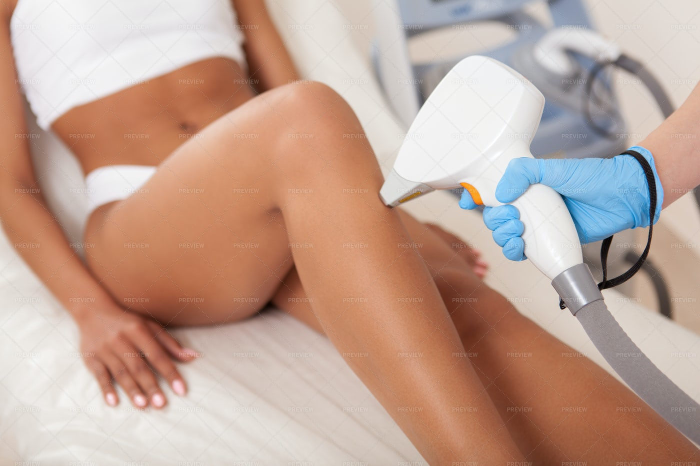 Laser Hair Removal On Legs: Stock Photos