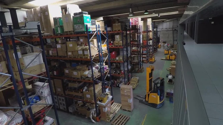 Inside A Logistics Warehouse: Stock Video