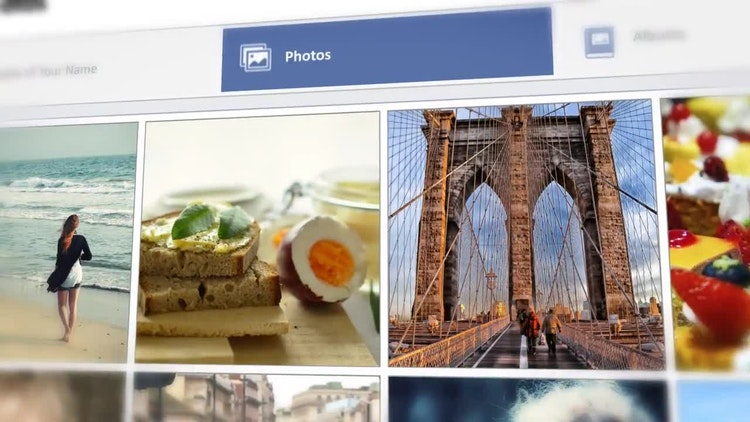 Facebook SlideShow Photo Wall After Effects Templates Motion Array