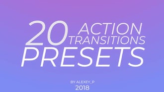 Action Transitions Presets: Premiere Pro Templates
