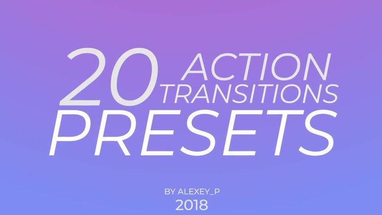 Action Transitions Presets: Premiere Pro Templates