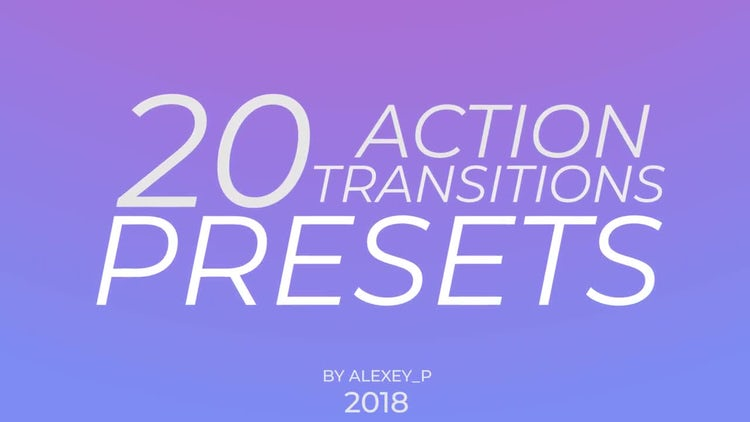 Action Transitions Presets: Premiere Pro Presets