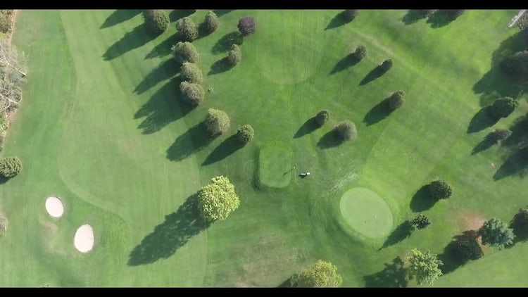 Rotating Over Golf Course : Stock Video