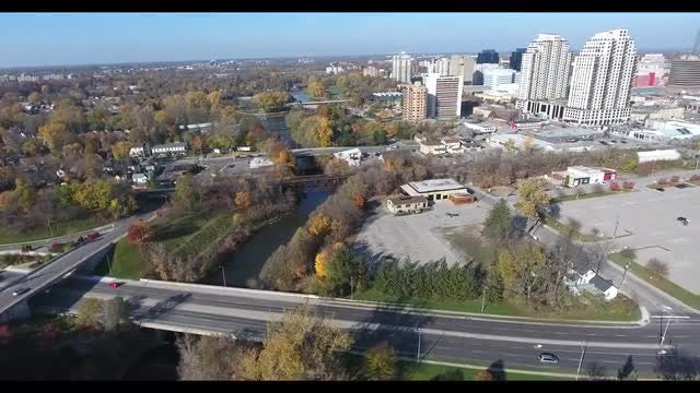 City And Three Bridges : Stock Video
