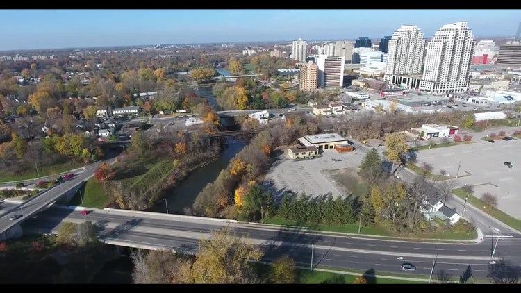 City And Three Bridges : Stock Video