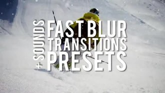 Fast Blur Transitions Presets: Premiere Pro Templates