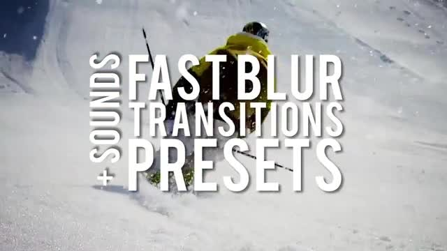 Fast Blur Transitions Presets: Premiere Pro Presets