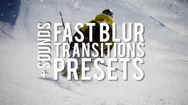 Fast Blur Transitions Presets: Premiere Pro Presets