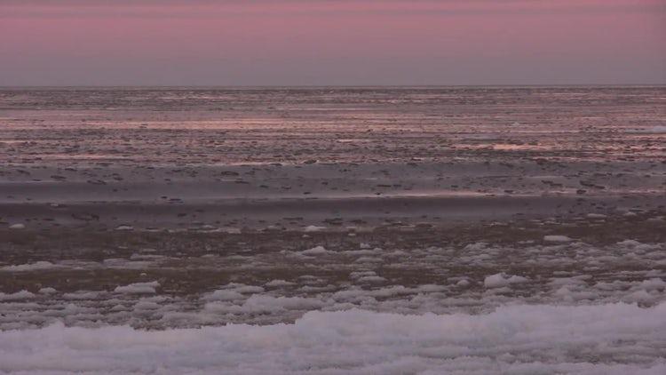 Ice Sitting On Sea: Stock Video