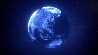 Digital Earth Background: Motion Graphics