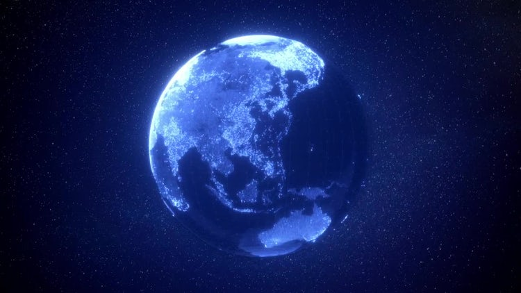 Digital Earth Background: Stock Motion Graphics