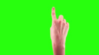 Touchscreen Gestures On Green Screen: Stock Video