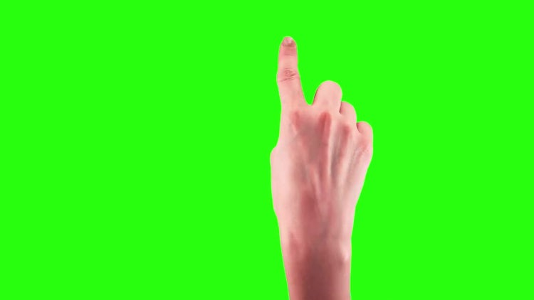 Touchscreen Gestures On Green Screen: Stock Video