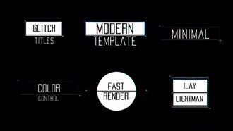 Minimal Glitch Titles: After Effects Templates