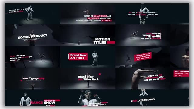 Art Typography: Premiere Pro Templates