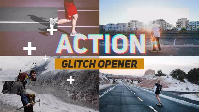 Action Glitch Opener: Premiere Pro Templates