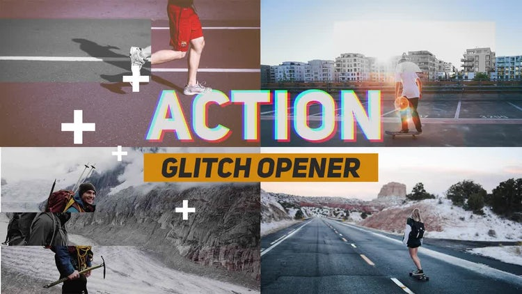 Action Glitch Opener: Premiere Pro Templates