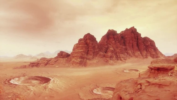 Mars Landscape One: Stock Motion Graphics